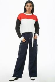 Forever21 French Terry Colorblocked Top