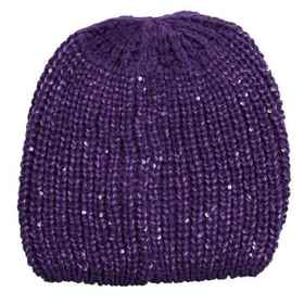 Chaos Tarra Shaker-Knit Beanie with Paillettes (Fo