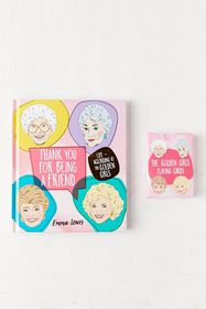 Thank You for Being a Friend Book + Playing Cards