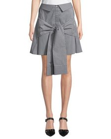Maggie Marilyn Crowd Pleaser Tie-Front Gingham Min