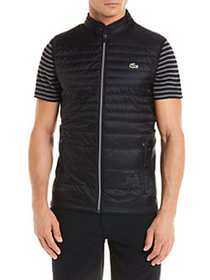 Lacoste Sport Quilted Down Vest BLACK BLUE