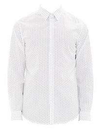 Theory Irving Polka-Dot Print Shirt WHITE MULTI