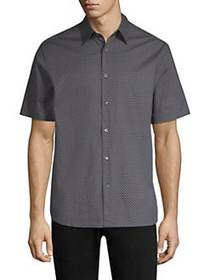 Theory Cotton Button-Down Shirt ECLIPSE MULTI