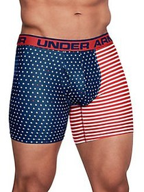 Under Armour 4-Way Stretch Boxer Briefs RED FLAG