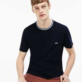 Lacoste Men's Striped Crew Neck Cotton Jersey T-sh