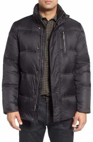 Cole Haan Quilted Jacket with Convertible Neck Pil