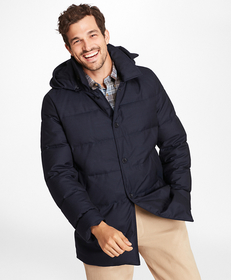 Brooks Brothers Water-Repellent Down-Filled Car Co