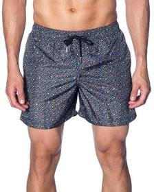 Jared Lang Men's Dot & Swirl Print Swim Shorts