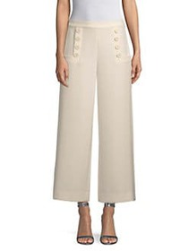 St. John Bella Double Weave Wide Leg Pants CREAM