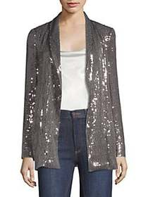 Alice + Olivia Jace Sequin-Embroidered Jacket SILV