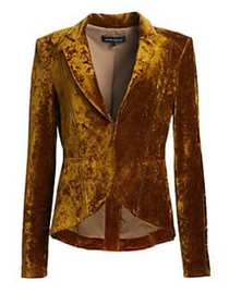 Nanette Lepore Velvet Riding Jacket GOLD