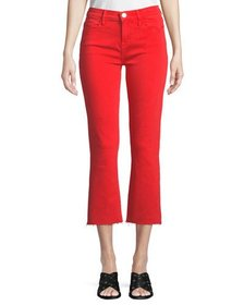 Current/Elliott The Kick Flare-Leg Cropped Jeans w