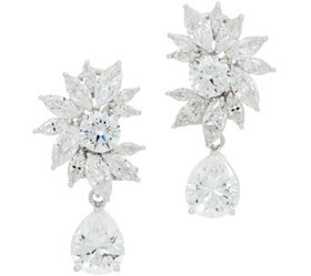 TOVA Diamonique 11.00 cttw Statement Drop Earrings