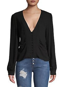 Free People Ivy Maise Top BLACK