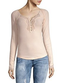 Free People To the West Henley Top PINK