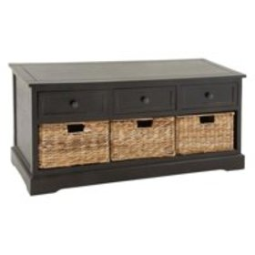 Decmode Farmhouse 20 X 42 Inch Wooden Chest With W