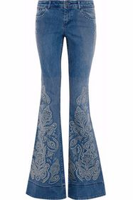 ALICE + OLIVIA Ryley studded low-rise flared jeans