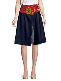 Weekend Max Mara Floral A-Line Skirt ULTRAMARINE