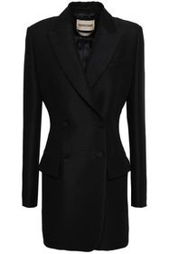 ROBERTO CAVALLI Double-breasted wool and mohair-bl
