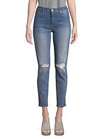 7 For All Mankind Josefina Busted-Knee Jeans BLUE
