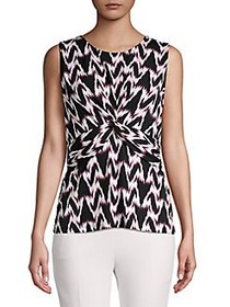 Donna Karan Knotted Front Sleeveless Top DOGWOOD M