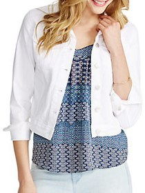 Jessica Simpson Solid Long Sleeve Pixie Jacket WHI