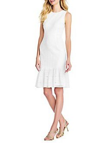 Adrianna Papell Vintage Lace Sheath Dress IVORY