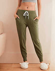 American Eagle Aerie Fleece Ribbed Cuff Jogger