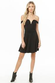 Forever21 V-Wire Fit & Flare Dress