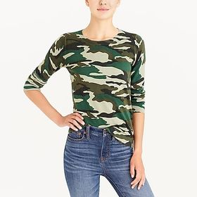 J. Crew factory womens Camouflage Teddie sweater