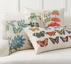 Pottery Barn Victoria Botanical Pillow Cover