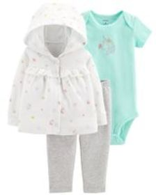 Osh Kosh Baby Girl3-Piece Little Cardigan Set
