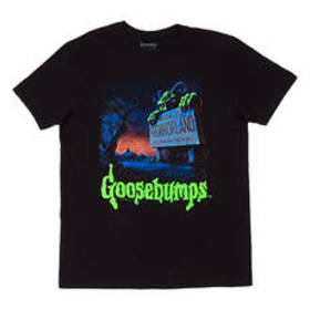 Young Mens Goosebumps Short Sleeve Horrorland Scre