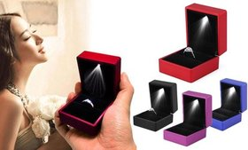 Luxury Necklace Earring Ring Box Case Holder With