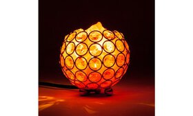 Salt Lamp with Metal Base LED lighting Dimmable Co