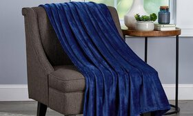LHC Oversized Microfiber Velvet Throw Blanket