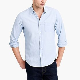 J. Crew Factory factory mens Chambray shirt in fad