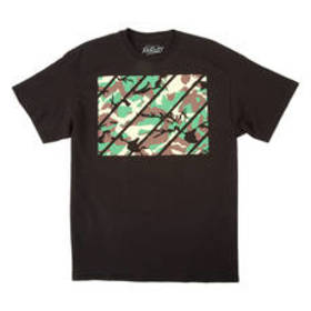 Young Mens Popular Poison Camo Striped Short Sleev