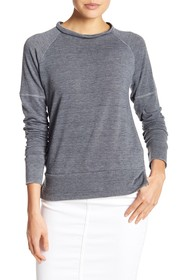 Go Couture Burnout Raglan Sleeve Sweater