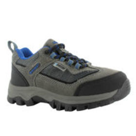 HI-TEC Boys' Hillside Low WP Hiking Shoes, Charcoa