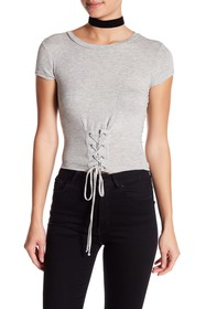 dee elly Corset Laced Detail Tee