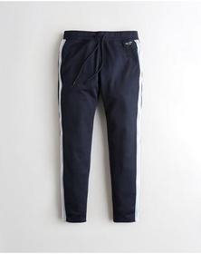 Hollister Taper Track Pants, NAVY