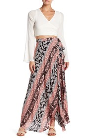 Reverse Go With The Flow Wrap Maxi Skirt