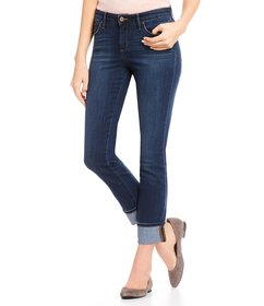 Jessica Simpson Arrow Straight Rolled Cuff Jeans