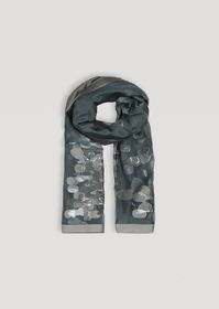Armani Patterned silk blend voile scarf
