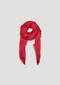 Armani Modal blend scarf with jacquard logo and fr