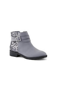 Lands End Girls Ankle Wrap Booties