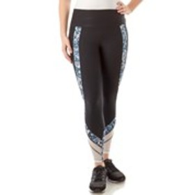 BALLY Active Leggings with Mesh Accents and Printe