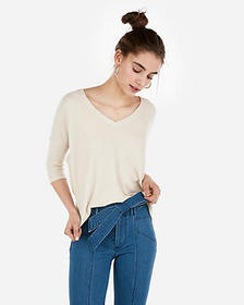 Express express one eleven waffle v-neck london te