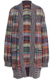 MISSONI Crystal-embellished checked cotton-blend c